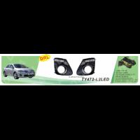 Противотуманные фары Vitol TY-472-L2LED-W Toyota Corolla 2011- эл.проводка